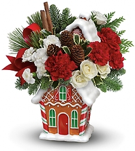 Gingerbread Cookie Jar Bouquet 2015